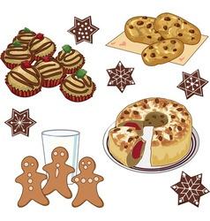 Xmas cookies vector image vector image