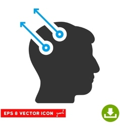 Neural interface plugs eps icon vector