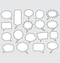 speech bubbles comics stroke line vector image