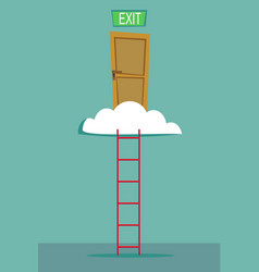 ladder into the sky vector image