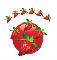 Strawberry metal3 vector