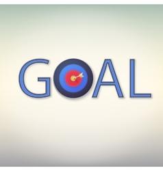 Goal icon vector