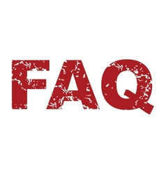 Red grunge faq logo vector image