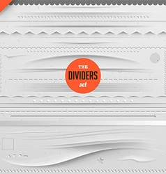 Page dividers set vector