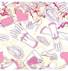 Seamless pattern with gloves and fashion vector