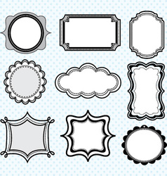 Black label frameselegant ornate frames set vector