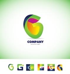 Alphabet letter g logo vector