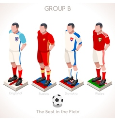EURO 2016 Championship GROUP B vector image