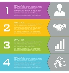 Template with elements for presentations vector image