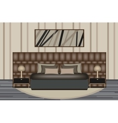 Bedroom  elevation room with luxury vector