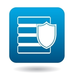 Data security icon simple style vector