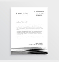 Abstract letterhead template design with paint vector