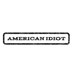 American idiot watermark stamp vector
