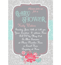 Baby-shower countrychic vector