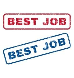 Best Job Rubber Stamps vector image vector image