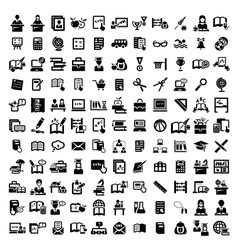 Big education icons set vector