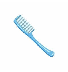 Blue hairbrush icon cartoon style vector