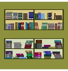 bookshelf flat design vector image