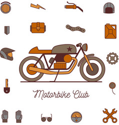 Cafe racer retro motorbike vector