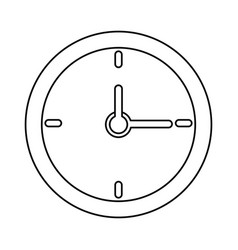 clock time school thin line vector image