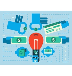 Crowdfunding vector