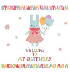Cute little cartoon hare cute little cartoon hare vector
