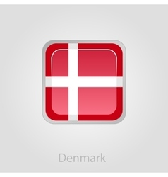 Denmark flag button vector