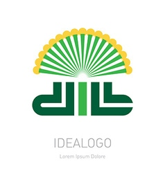 Dill - original lettering logo organic logotype or vector image vector image