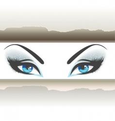 eyes paper vector image
