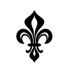 fleur-de-lys flower de luce royal heraldic lily vector image vector image