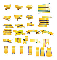 gold ribbons and banners vector image vector image