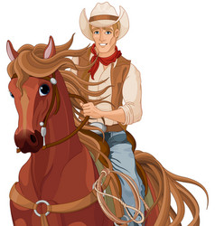 Horse riding cowboy vector