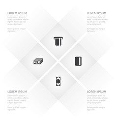 icon money set of payment currency investment vector image