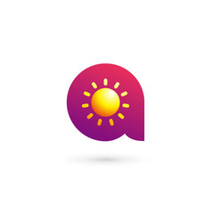 Letter a sun logo icon design template elements vector