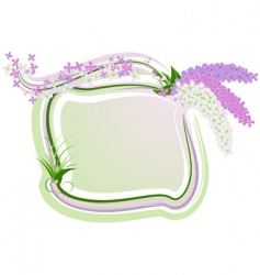 lilac framework vector image vector image