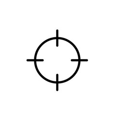 line target point icon on white background vector image