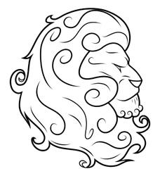 Lion head 3 vector image