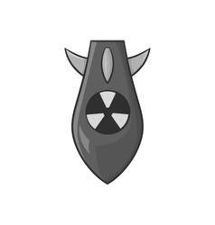 Nuclear warhead icon black monochrome style vector
