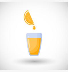Orange juice flat icon vector