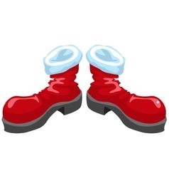 Red shoes santa vector
