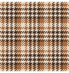 Seamless brown gingham comprised by threads vector