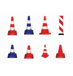 Set of road signs orange badge guardrails on vector