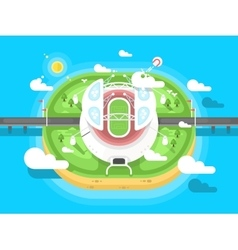Stadium flat design vector