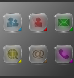 the set of transparent icons with different vector image
