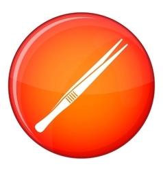 Tweezers icon flat style vector