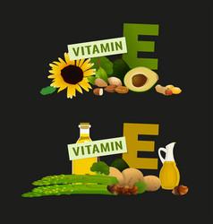 vitamin e image vector image vector image