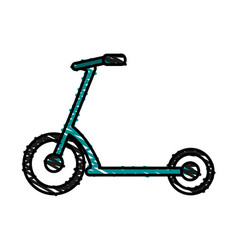 Waveboard scooter design vector