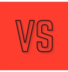 Black versus sign on red background vector