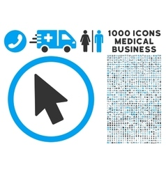 Mouse pointer icon with 1000 medical business vector