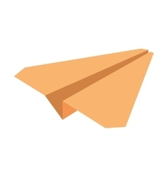 Yellow paper plane symbolic miniature vector